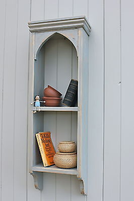 Wall Shelf/ Rack, Gothic Arch, Spices, Display, Collectors Shelves