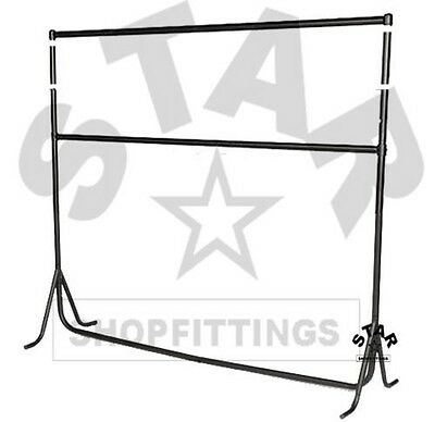 Double 3ft|4ft|5ft|6ft x 6ft Tall HEAVY DUTY RAIL Clothes Garment Dress Stand