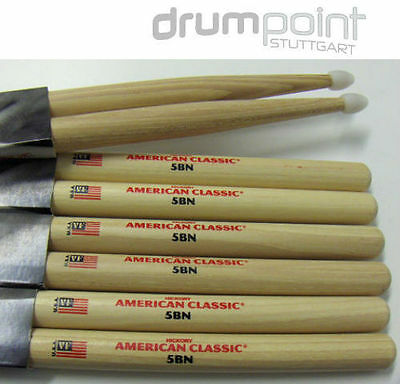 3 Paar Vic Firth 5B American Classic USA Hickory Drumsticks  • ANGEBOT •