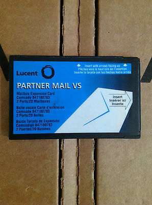 Lucent Partner Mail VS Mailbox Expansion Card 2 Ports/20 Mailboxes 847180783