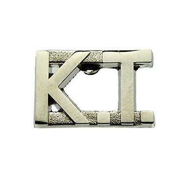 KT Knights Templar Silver Uniform Lapel Pin Bar