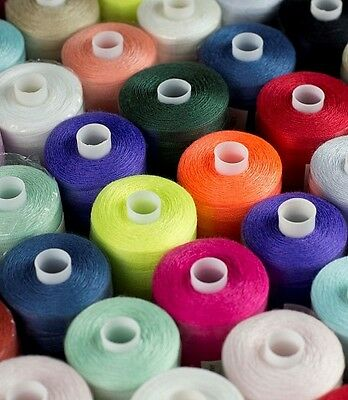 Cotton Thread Polyester, Mixed Pack Assorted Col- Pack Of 10/25/50/100+ Free P&p