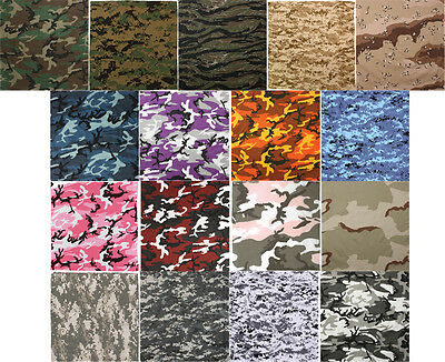 "Camouflage Digital Military Cotton Army Camo Biker Bandanas 22"" x 22"""