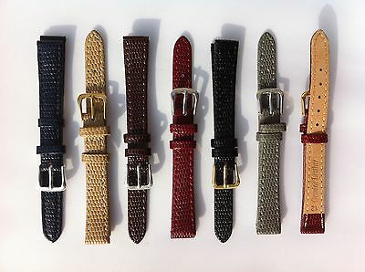 Lizard Patent High Quality Leather Watch Band Strap 8,10,12,14,16,18,20,22mm