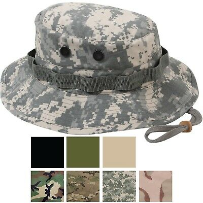 Ripstop Boonie Hat Lightweight Camo Wide Brim Military Bucket Bush Summer  Sun 090ccb38699c