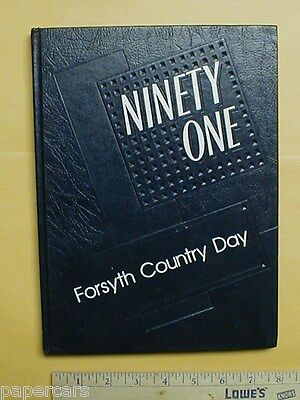 1991 Forsyth Country Day School yearbook Lewisville NC annual North Carolina