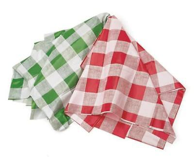 Kitchen Craft Wipeable Large Green Checker Table Cloth Party Cover