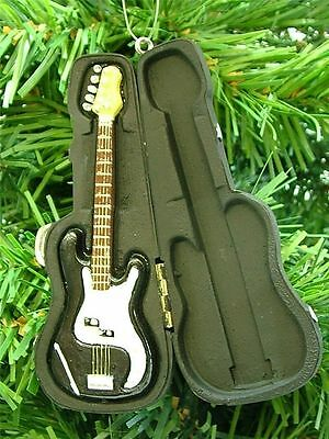 New Resin Black Electric Guitar 6 String Black Case Christmas Tree Ornament