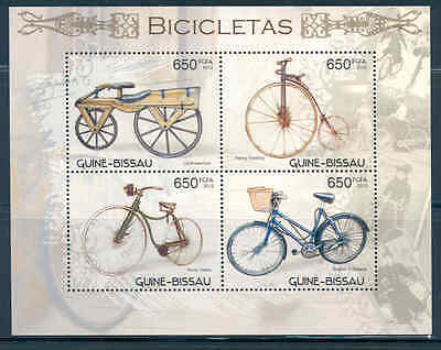 Guinea Bissau 2012 Transportation Bicycles Sheet Of Four Stamps