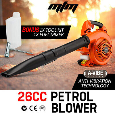 NEW MTM 26CC Petrol Leaf Blower Two Stroke Petrol Hand Garden Yard 2 Outdoor