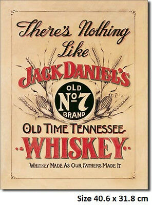 Jack Daniels Nothing Like Metal Tin Sign 832  Large Variety - Post Discounts