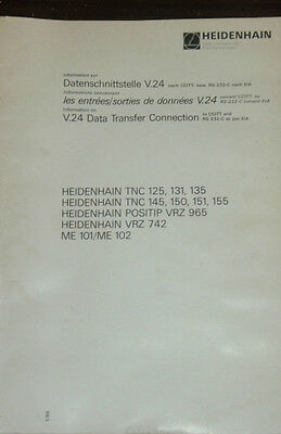 Heidenhain TNC 125 131 135 145 150 151 155 V.24 Data Transfer _ CCITT _ RS-232-C