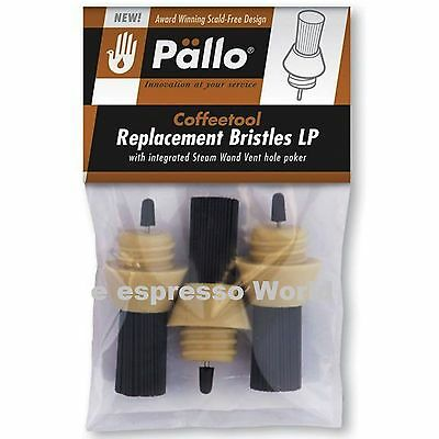 Pallo Coffee Tool Nylon Replacement Bristles  Pack Of 3