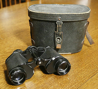 Vintage HAMBLETONIAN Binoculars with Leather Case. 8x30 Made in Japan. Nice!