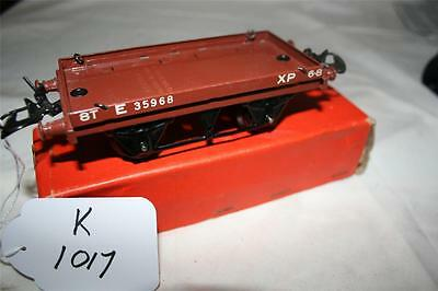 O gauge  hornby tineplate low sided wagonlittle use in a good box  [1017]