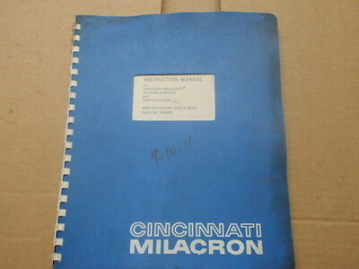 Cincinnati Turning Centers with Parts Catcher Instruction Manual 1208_1210_1212