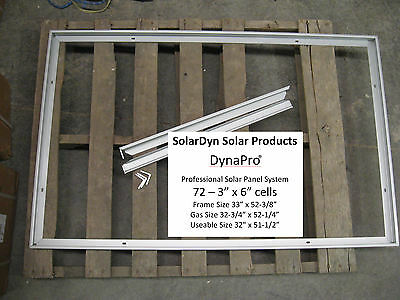 3 x 72 Cell DynaPro Solar Panel Frame Kits - The Real Thing - ON SALE