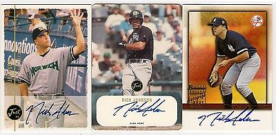 Nick Johnson lot of three autograph cards  Mint