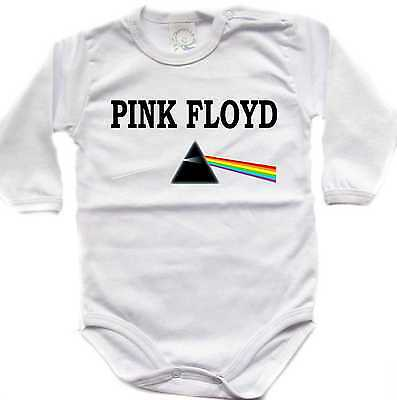 Fun Baby body , bodysuit , Langarm Weiß , PINK FLOYD dark side of the moon