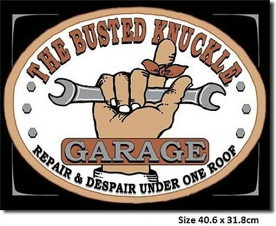 Busted Knuckle Garage 980 Tin Sign Made InUSA - Huge Variety Of Signs