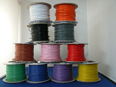 10m of 7/0.2mm Equipment Wire 11 colours or 5m Red/5m Black