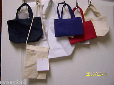 """Assorted Sizes And Colors Of Canvas Purses Totes Personalized For The """"Princess"""""""