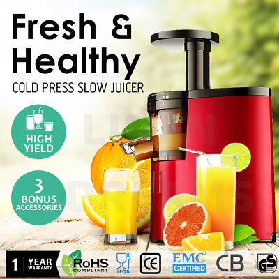 Cold Press Juice Slow Juicer Fruit Vegetable Processor Extractor Mixer