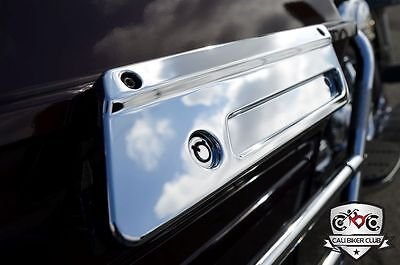 CHROME Latch Cover Covers FOR HD Harley-Davidson Hard Bags Road King FLHR FLHRC