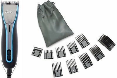 New Model Oster A6 3-Speeds Professional Animal Dog Clipper+10 Comb Guides+Pouch