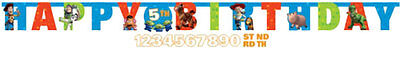 Toy Story Birthday Party - 2m Any Age Letter Banner - FREE POSTAGE IN UK