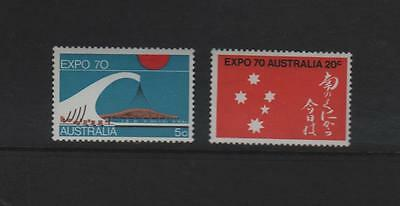 "AUSTRALIA 1970 ""EXPO 70 set of 2 tamps"" MNH (Ref 0011)"