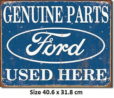 Genuine Ford Parts Rustic  Metal Tin Sign 1422 Made in USA Licensed