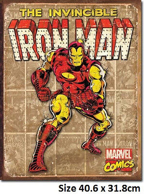 Ironman  Metal Tin Sign 1886 -Made in USA - Licensed.