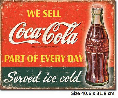Coca Cola Part Of Everyday RUSTIC Metal Tin Sign 1820 - Licensed - Made in USA