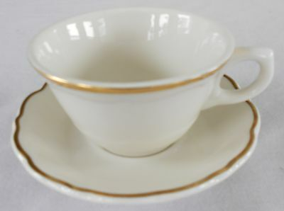 Syracuse China * GOURMET * Coffee Cup/s *White Winthrop Scalloped Gold Line Trim