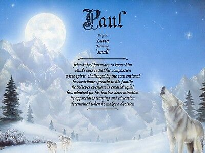 """""""Wolves"""" Name Meaning Prints Personalized (Animal, Nature, Wolf)"""