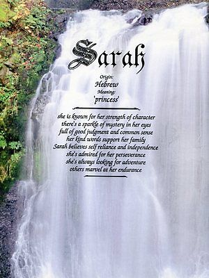 """Waterfall"" Name Meaning Prints Personalized (Nature, Inspirational)"