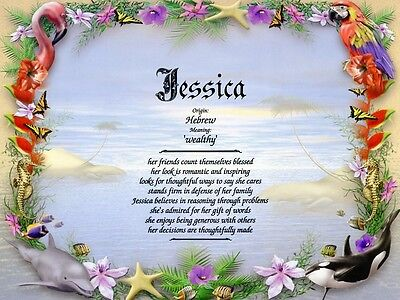 """Tropical Paradise"" Name Meaning Prints Personalized (Nature, Animals)"