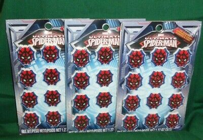 Spider-Man Edible Icing Cupcake Decorations,Topper,Multi-Color,Wilton,710-5072