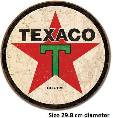 Texaco 1936 Metal Round Rustic Tin Sign 1798  Licensed Made In USA