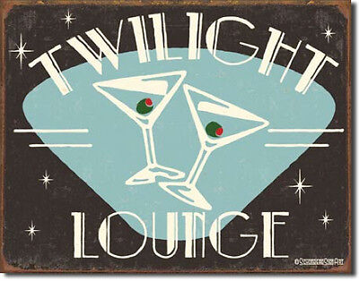 Twilight Lounge - RUSTIC  Metal Tin Sign 1175  Large Variety - Post Discounts