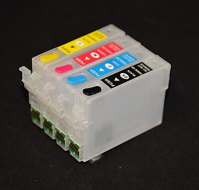 EMPTY REFILLABLE ink cartridge for epson Workforce WF-2520 WF-2540 CISS T200 XL