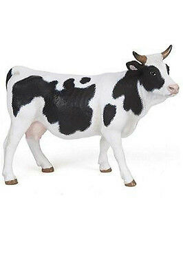 Papo Black and White Cow Farm Barn Animal Toy Figure Pretend Play 51148 NEW