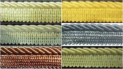 Silky Flanged Binding/Piping 5Mm Cord, Various Cols, Upholstery Etc, Sold Btm