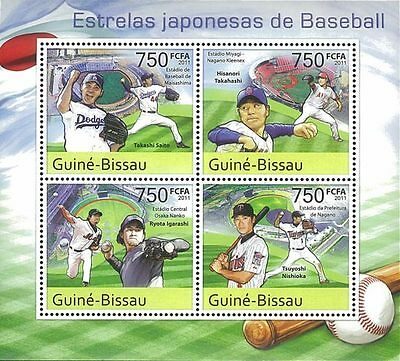 Guinea Bissau 2011 Stamp, GB11508A Japanese Baseball Stars, Sport, Famous People