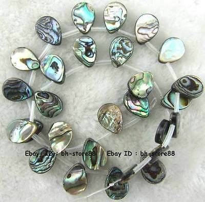 10x14mm Teardrop Sidehole Natural Abalone Shell Loose Beads 15''