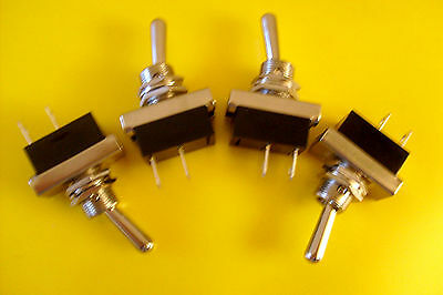 4 Heavy Duty Toggle Switches  On/Off  Kit car/ Classic