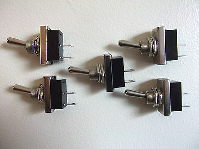 5 x Heavy Duty Metal Toggle Switches  On/Off Car Dash Light  Kit Car Classic 12v