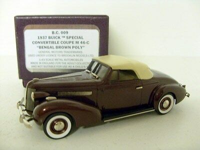 BROOKLIN 1/43 BC009 1937 BUICK SPECIAL CONVERTIBLE COUPE M 46C BENGAL BROWN POLY