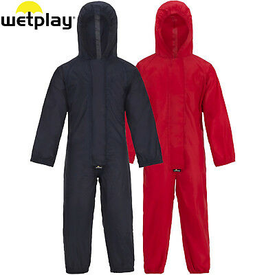 Wetplay Playsuit All-In-One Waterproof Puddle Rain Suit Childs Kids Boys Girls